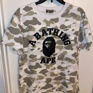 BAPE (A Bathing Ape) White/Beige Camo Shirt